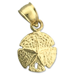 14k gold 10mm sand dollar charm