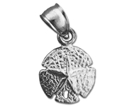 925 sterling silver 10mm sand dollar charm