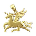 14k gold unicorn with wings charm