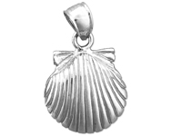 925 sterling silver 14mm scallop shell mini charm