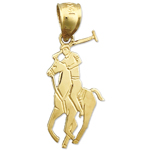 14k gold polo charm