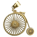 14k gold penny farthing bicycle charm pendant
