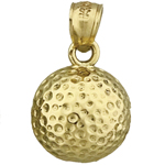 14k gold golf ball charm