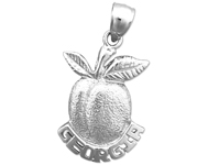 925 sterling silver georgia peach charm