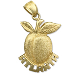 14k gold atlanta peach charm