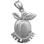 925 sterling silver atlanta peach charm
