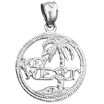 925 sterling silver key west island charm