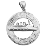925 sterling silver queen mary long beach charm pendant