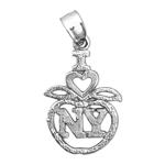 925 sterling silver i love new york big apple charm