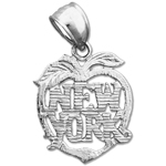 925 sterling silver new york big apple charm