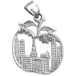 925 sterling silver new york cityscape big apple charm pendant
