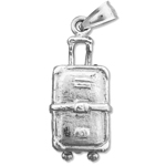 925 sterling silver 3d suitcase charm