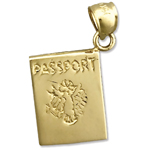 14k gold passport charm