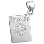 925 sterling silver passport charm