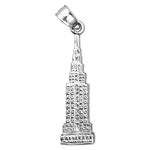 925 sterling silver 3d empire state building charm
