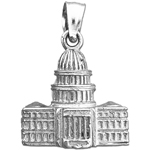 925 sterling silver 3d washington dc us capitol building charm