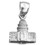 925 sterling silver 3d us capitol building washington dc charm
