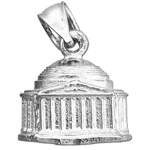 925 sterling silver 3d washington dc jefferson memorial charm