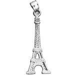 925 sterling silver eiffel tower charm pendant