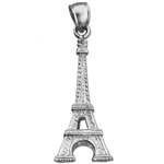 925 sterling silver 3-d eiffel tower charm
