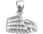 925 sterling silver roman coliseum italy charm