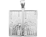925 sterling silver backgammon charm pendant