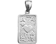 925 sterling silver ace of hearts playing cards charm