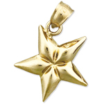 14k gold five point star charm