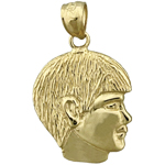 14k gold boy face charm