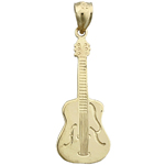 14k gold cello charm pendant