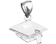 925 sterling silver graduation cap charm