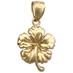 14k gold hibiscus charm
