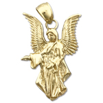 14k gold 25mm guardian angel charm pendant