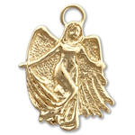14k gold guardian angel charm pendant
