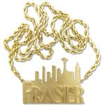 14k gold cutom made frasier pendant