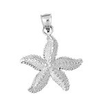 925 sterling silver starfish sealife charm pendant