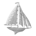 925 sterling silver 42mm sailboat charm pendant