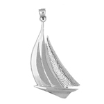 925 sterling silver 32mm sailboat charm pendant