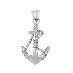 925 sterling silver 3d ship anchor charm