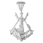 925 sterling silver shark caught in sailor ship anchor charm pendant