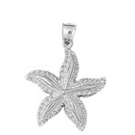 925 sterling silver tropical starfish charm pendant