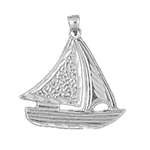 925 sterling silver sailor sailboat charm