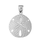 925 sterling silver 19mm sand dollar charm pendant