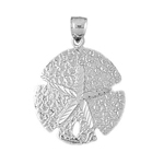 925 sterling silver 20mm sand dollar charm pendant