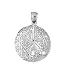 925 sterling silver sand dollar charm