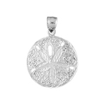 925 sterling silver 15mm floral sand dollar charm