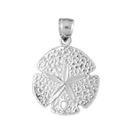 925 sterling silver 16mm sand dollar charm