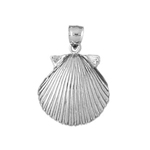 925 sterling silver 14mm scallop seashell charm