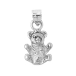 925 sterling silver 3d teddy bear charm