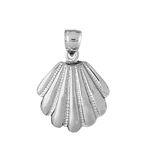 925 sterling silver 18 mm scallop shell charm pendant